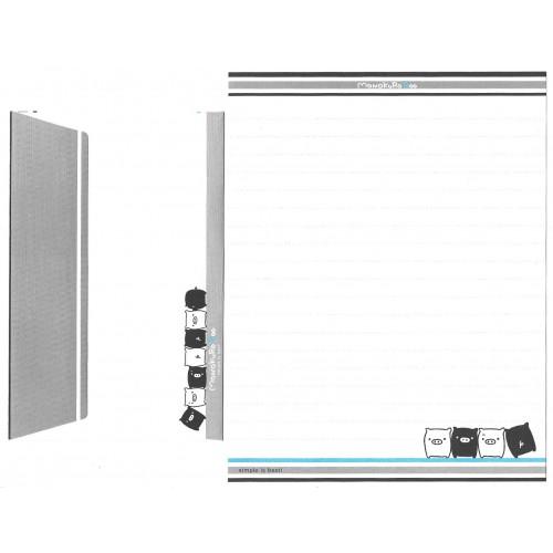 Kit 4 Conjuntos de Papel de Carta Monokuro Boo CAZ SAN-X