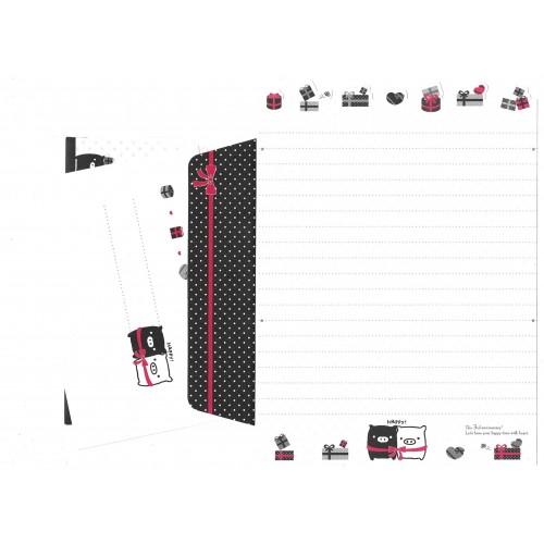 Conjunto de Papel de Carta Monokuro Boo DC1 SAN-X