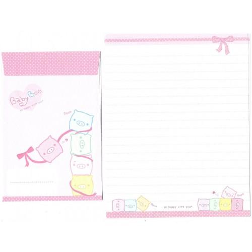 Kit 4 Conjuntos de Papel de Carta Importado Baby Boo - San-X