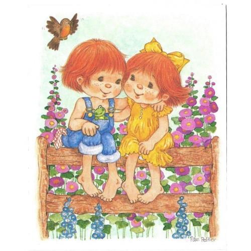 Notecard Antigo Importado SEM ENVELOPE Couple Pam Peltier Current