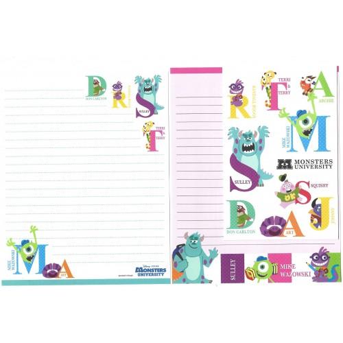Kit 2 Conjuntos de Papéis de Carta Disney/Pixar Monsters University