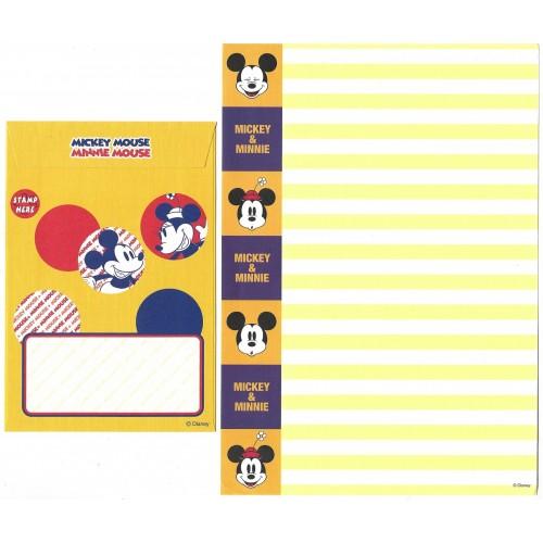 Conjunto de Papel de Carta Disney Mickey Mouse & Minnie Mouse
