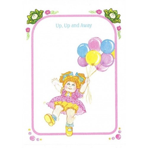 Ano 1983. Notecard Importado Cabbage Patch Kids Up and Away