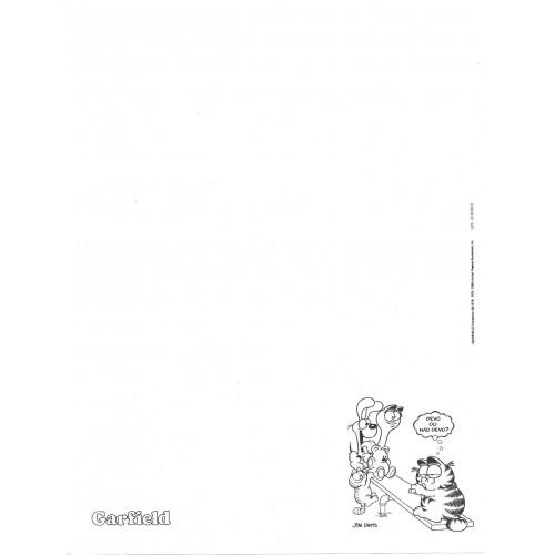Anos 80. Conjunto de Papel de Carta Garfield N.50005-6