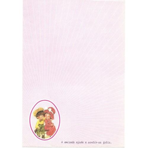 Papel de Carta Antigo ROSA 1 COM FRASE