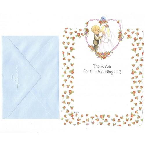 Conjunto de Papel de Carta IMPORTADO Precious Moments Wedding