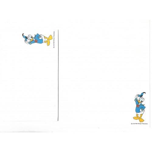 Conjunto de Papel de Carta Disney Donald Duck - Hallmark
