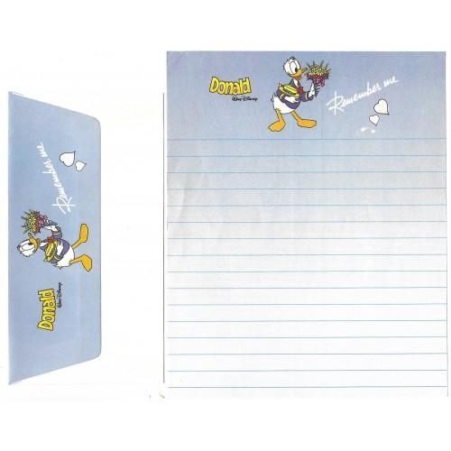 Conjunto de Papel de Carta VINTAGE Disney Donald Duck