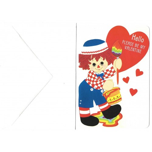 Ano 1976. Notecard Importado Raggedy Ann Valentines 2 Hallmark