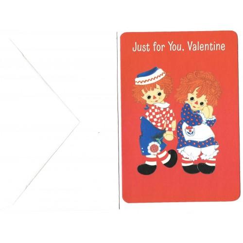 Ano 1976. Notecard Importado Raggedy Ann Valentines 3 Hallmark