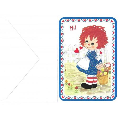 Ano 1974. Notecard Importado Raggedy Ann Valentines 1 Hallmark