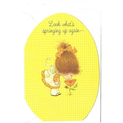 Cartão ANTIGO Importado CHARMERS EASTER Hallmark Canadá