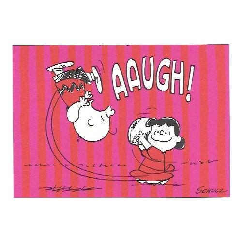 Cartão Postal Antigo VINTAGE Importado Snoopy AAUGH! Hallmark