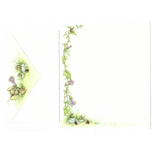 Conjunto de Papel de Carta Antigo Importado Mouse 2 - Hallmark