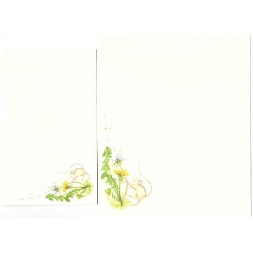 Conjunto de Papel de Carta Antigo Importado Mouse 3 - Hallmark