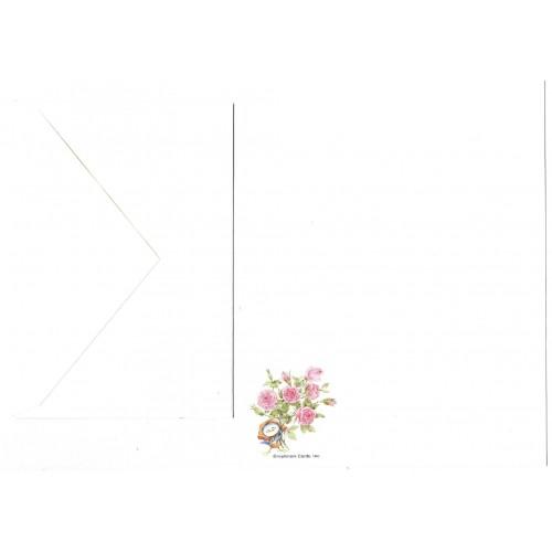Conjunto de Papel de Carta Antigo Importado Blue Bird 5 Hmk