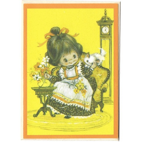 Notecard Cartão Antigo Importado Menininha Charmers - Hmk