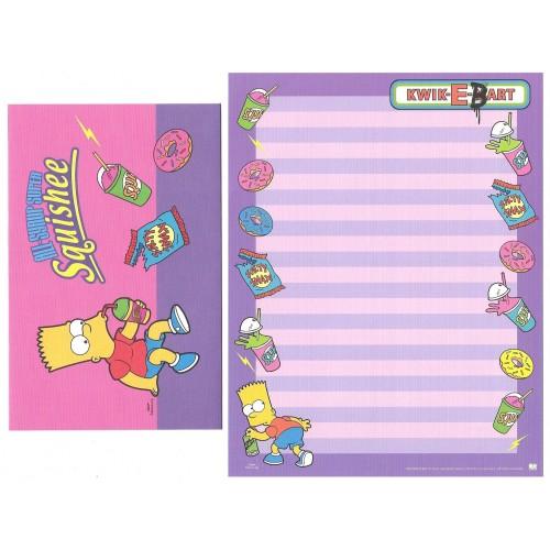 Conjunto de Papel de Carta Importado Os Simpsons Bart CLL