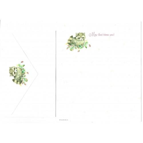 Conjunto de Papel de Carta Antigo Importado Critters Hallmark