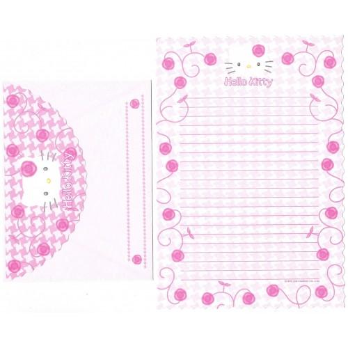 Ano 2001. Conjunto de Papel de Carta Hello Kitty Roses CRS1 Sanrio