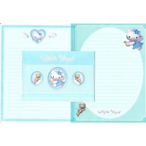 Ano 2001. Conjunto de Papel de Carta Hello Kitty Angel CVD Sanrio