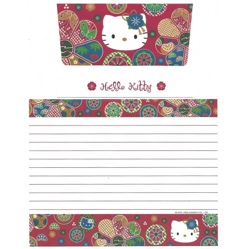Ano 2000. Kit 2 Conjuntos de Papel de Carta Hello Kitty Regional VMBL Sanrio