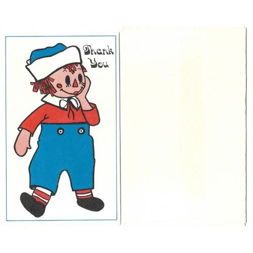 Thank You Card Importado Raggedy Ann Hallmark