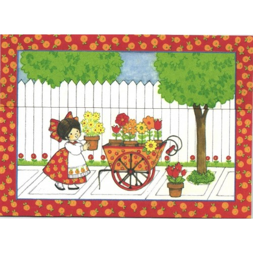 Postalete Antigo Importado CHARMERS Flower Garden Hallmark
