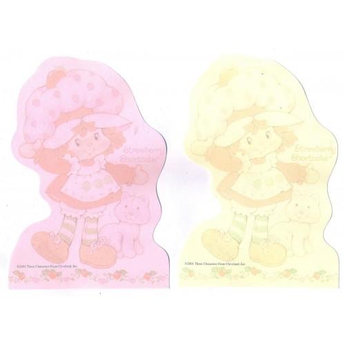 Ano 2001. Kit 2 NOTAS Importadas Moranguinho Strawberry Shortcake