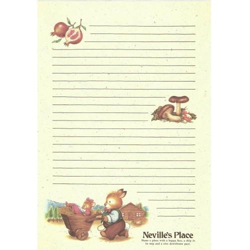 Ano 1986. Papel de Carta Avulso Neville's Place Vintage Sanrio