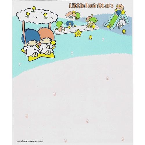 Ano 1976. Papel de Carta AVULSO Little Twin Stars Away Sanrio