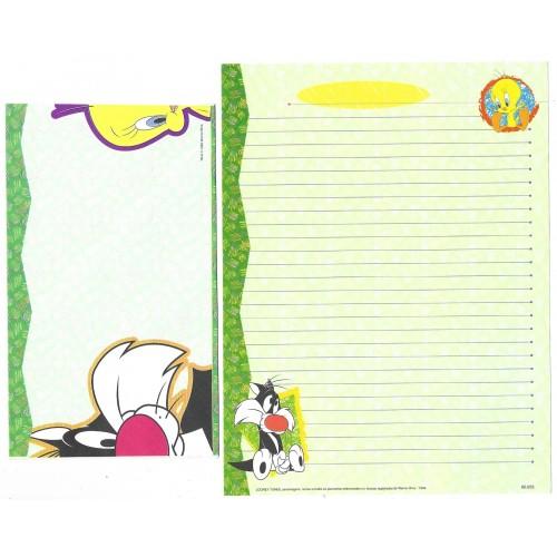 Conjunto de Papel de Carta Looney Tunes Personagens 10 - Warner