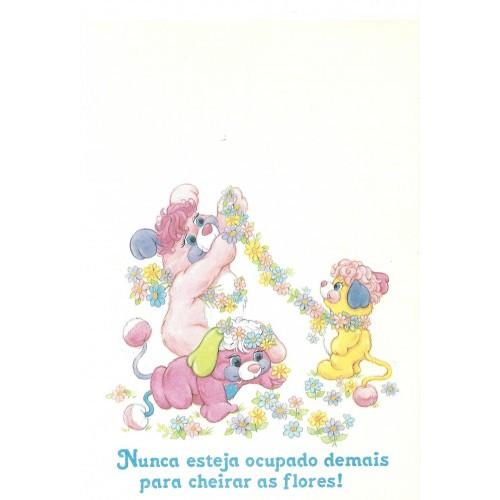 Papel de Carta AVULSO Antigo M Popples Flores