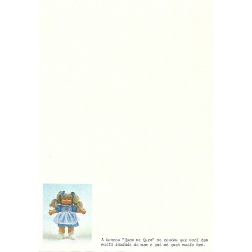 Papel de Carta Antigo QUEM-ME-QUER 6