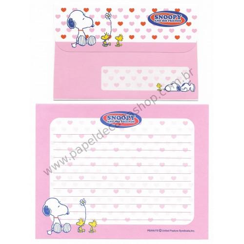 Conjunto de Papel de Carta Snoopy & His Friends Peanuts CRS