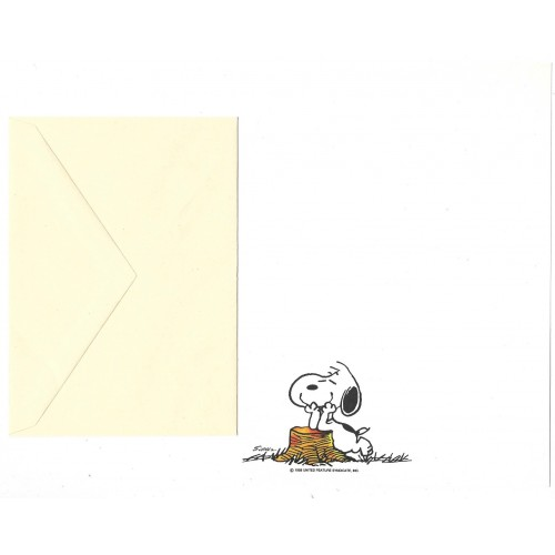 Conjunto de Papel de Carta ANTIGO SNOOPY P5