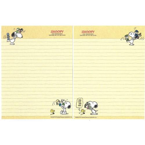 Conjunto de Papel de Carta Snoopy & Friends Art of 70's CRE Peanuts