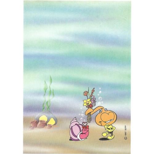 Ano 1987. Papel de Carta Antigo Os Snorkels 06 SEPP