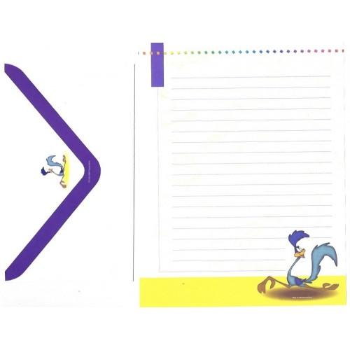Conjunto de Papel de Carta Looney Tunes Personagens 12 - Warner