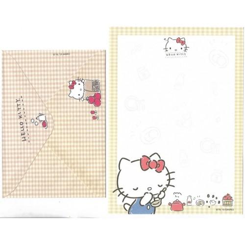 Ano 2019. Conjunto de Papel de Carta Hello Kitty Piquenique TECA Sanrio