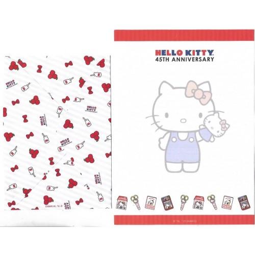 Ano 2019. Conjunto de Papel de Carta Hello Kitty 45th Anniversary TECA Sanrio