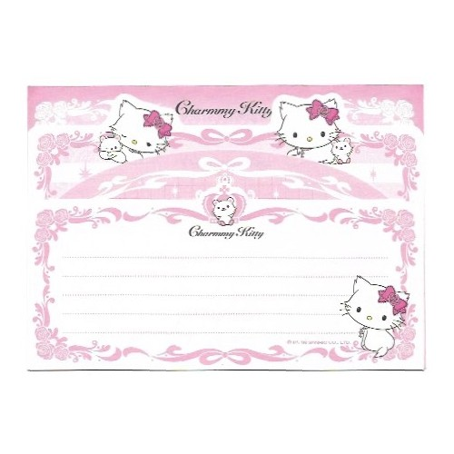 Ano 2006. Kit 4 Notas Charmmy Kitty Sweet Clover Sanrio