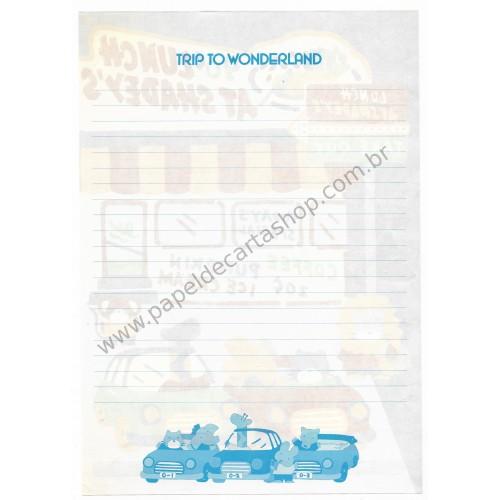 Ano 1984. Papel de Carta AVULSO Vintage Trip to Wonderland Sanrio