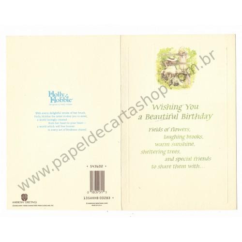 Cartão ANTIGO HOLLY HOBBIE G08