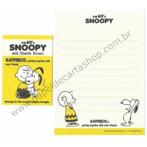 Conjunto de Mini Papel de Carta The 60's Snoopy and Charlie Brown I