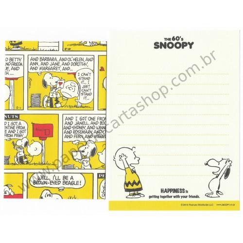 Kit 2 Conjuntos Mini Papel de Carta The 60's Snoopy and Charlie Brown