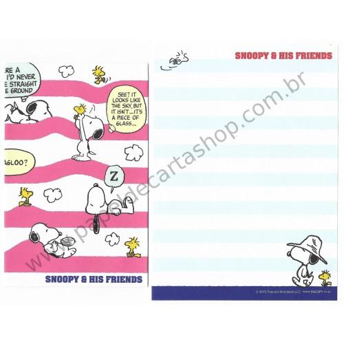 Kit 2 Conjuntos de Mini-Papel de Carta SNOOPY & Friends Peanuts