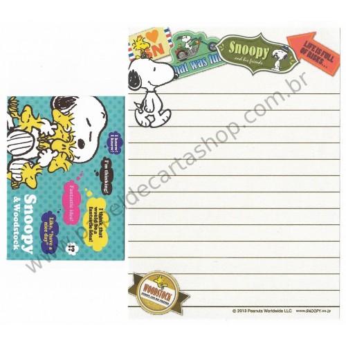 Kit 2 Conjuntos de Mini-Papel de Carta SNOOPY Seals Peanuts
