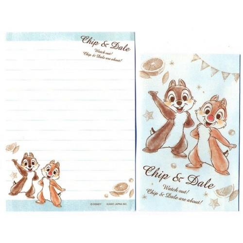 Kit 2 Conjuntos de Mini-Papéis de Carta Disney Chip & Dale