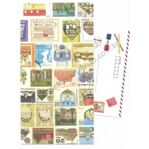 Conjunto de Papel de Carta Antigo (Vintage) Bon Voyage